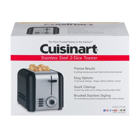 Cuisinart Stainless Steel 2-Slice Toaster, 1.0 CT