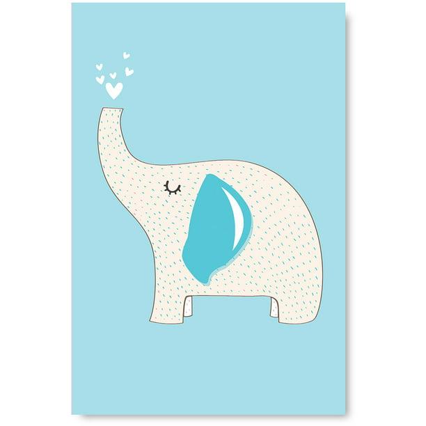 Awkward Styles Elephant Poster Art Kids Room Wall Art Nursery Room Decor Funny Animals Decor For
