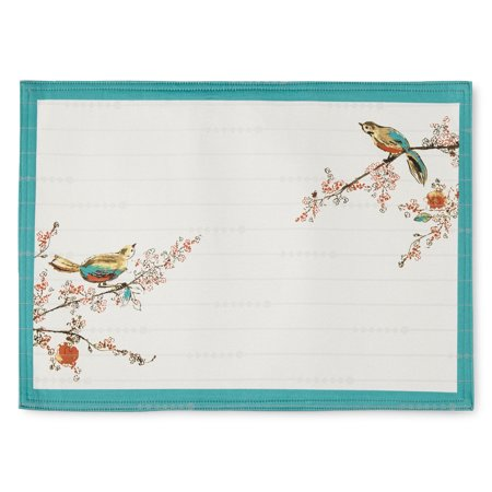 Multi Placemat (Lenox Chirp Print, Pack of 4 Placemats,)