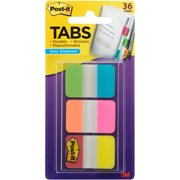 Post-it Tabs with Easy Dispenser, 1in. Tabs, Assorted Colors