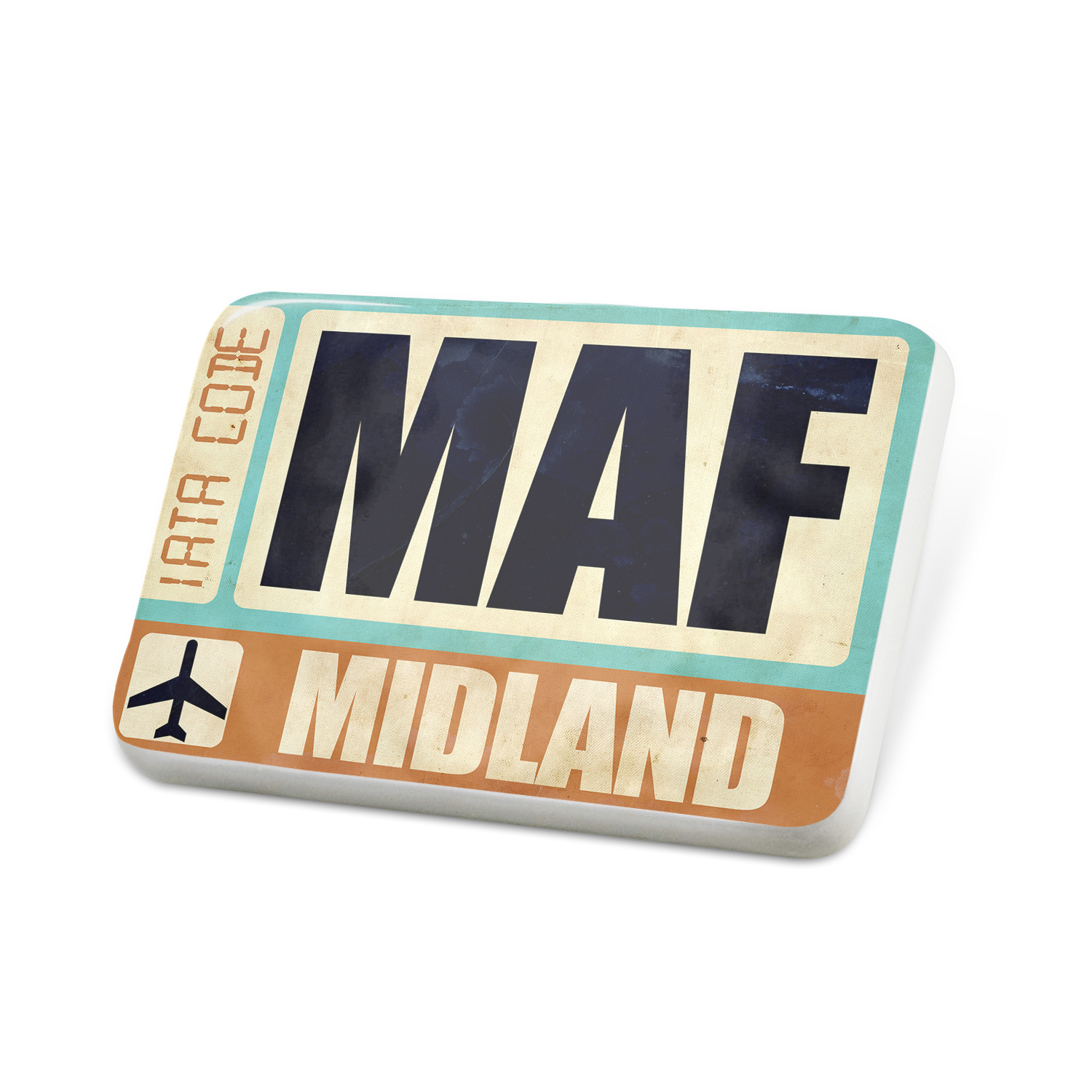 Porcelein Pin Airportcode MAF Midland Lapel Badge – NEONBLOND