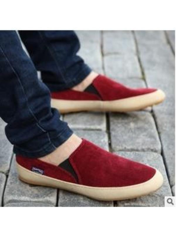 Men Canvas Casual Lace Slip On Loafer Shoes Moccasins Driving Sneaker Shoes