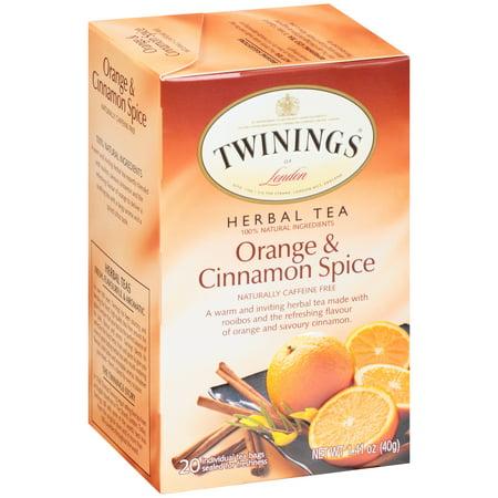 (6 Boxes) Twinings Of London Orange & Cinnamon Spice Tea Bags, 20 Ct