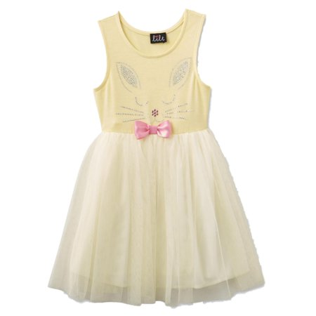 f871480784 Lilt - Little Girls Yellow Sequin Bunny Rabbit Tutu Tank Dress Sundress 5 -  Walmart.com