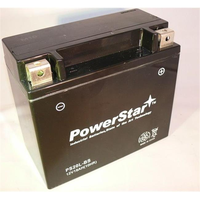 PowerStar PS-680-126 20L BS Battery For Honda Motorcycle 1800 CC GL1800 Gold Wing, 2001-2007