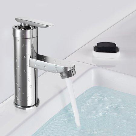 - Chrome Brass Bath Bathroom Waterfall Basin Sink Faucet Vanity Mixer Water Tap Single Handle