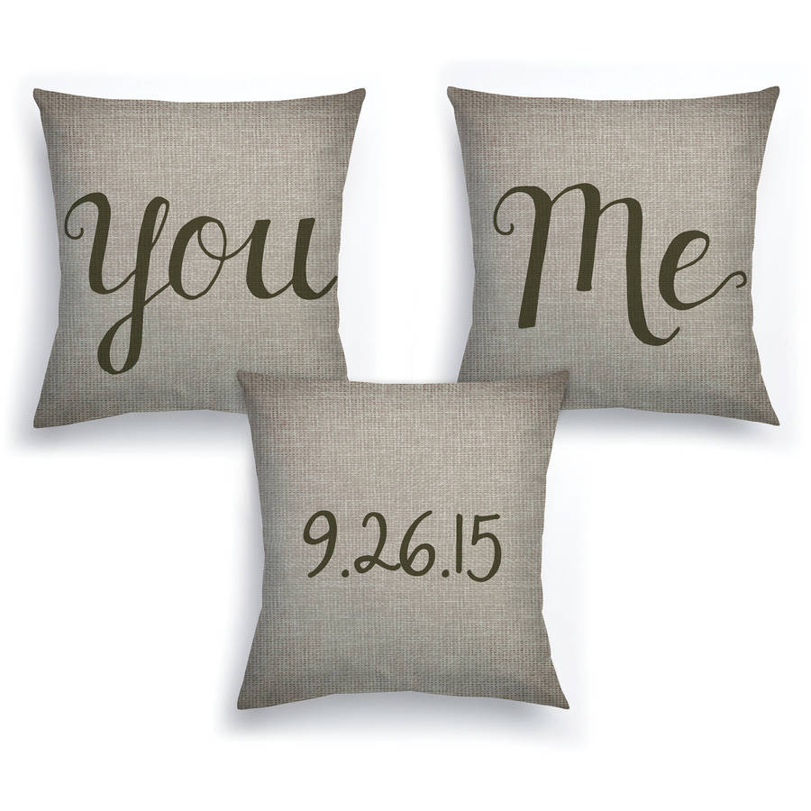 Personalized You and Me 3-Piece Pillow Set