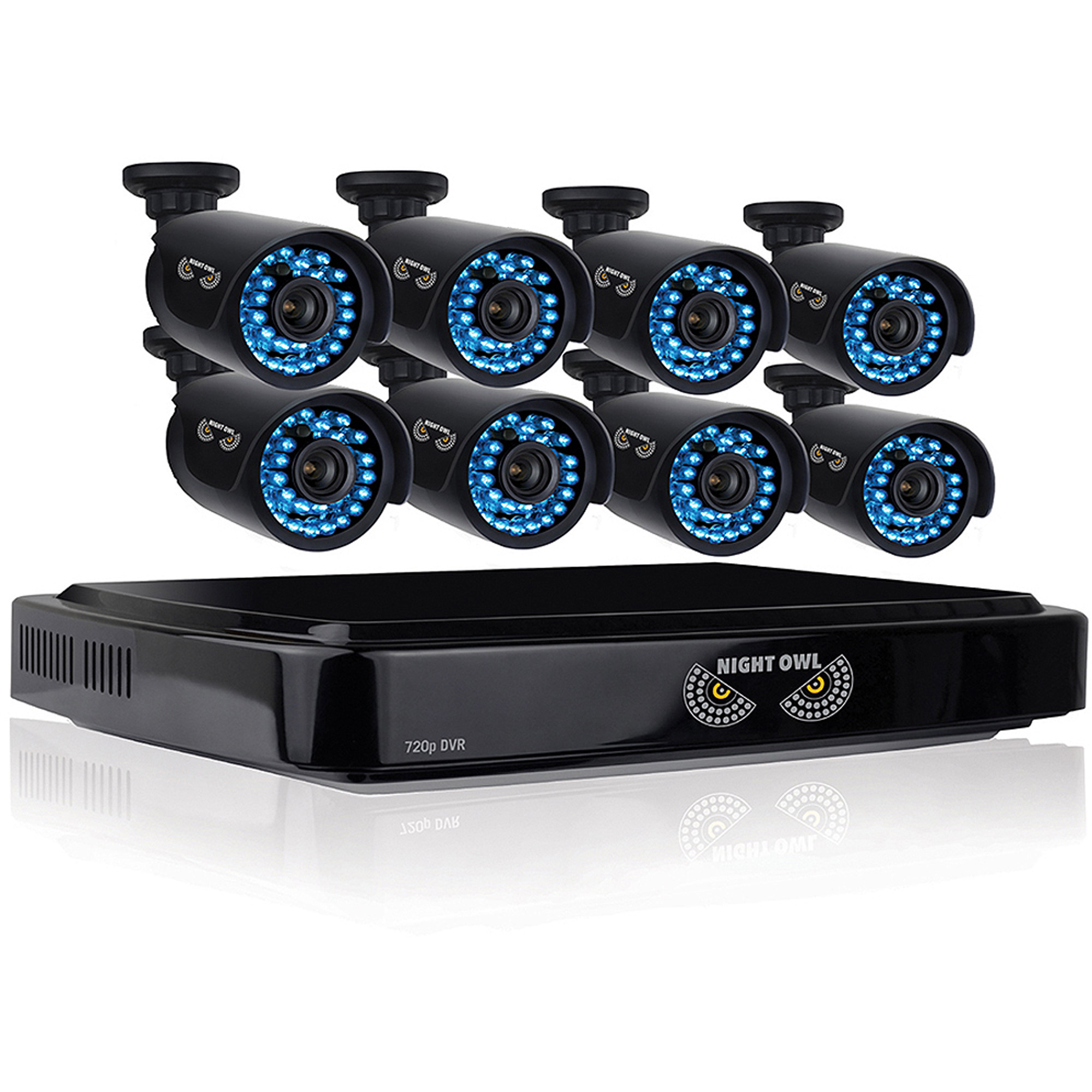 Night Owl B-A720-162-8 16-Channel Smart HD Video Security System with 2TB HDD and 8 x 720p HD Cameras