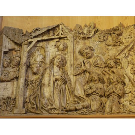 Canvas Print Historically Image Art Relief Wood Carve Church Stretched Canvas 10 x