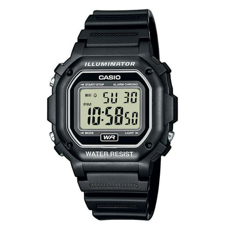 Casio Men's Digital Illuminator Sport Watch, Black Resin F108WH-1ACF
