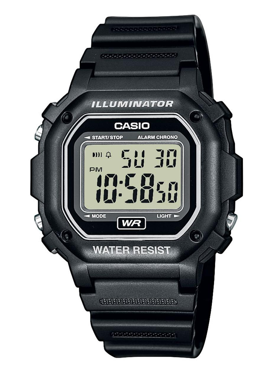 Unisex Digital Watch, Black Resin Strap