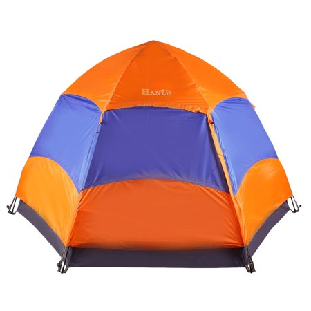Six Corner 5-8 Person Automatic Sunshade Camping Picnic Rainproof Shelter Tent