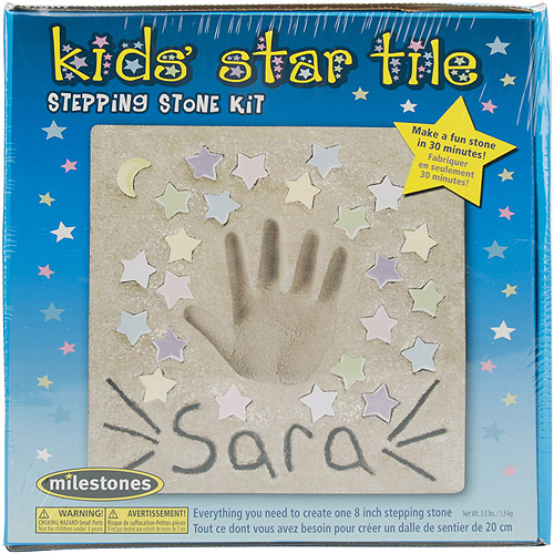 Milestones Kids' Star Tile Stepping-Stone Kit