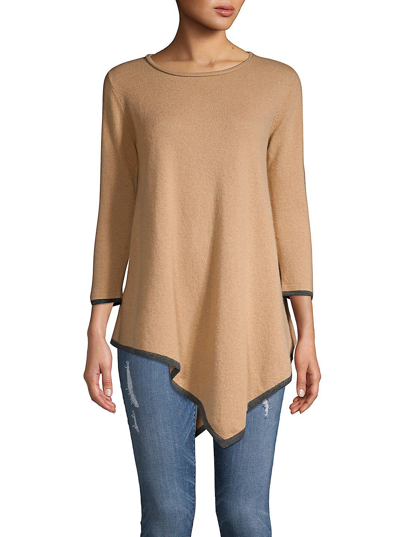 Asymmetrical Cashmere Tunic
