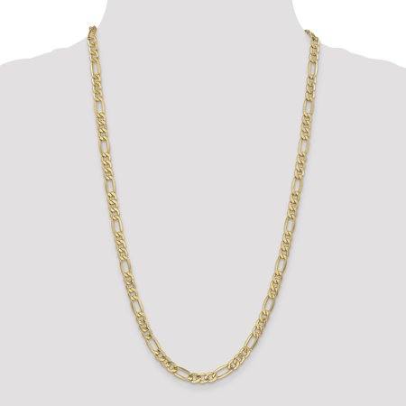 14K Yellow Gold 6.6mm Semi-Solid Figaro Chain 18 Inch - image 1 of 5