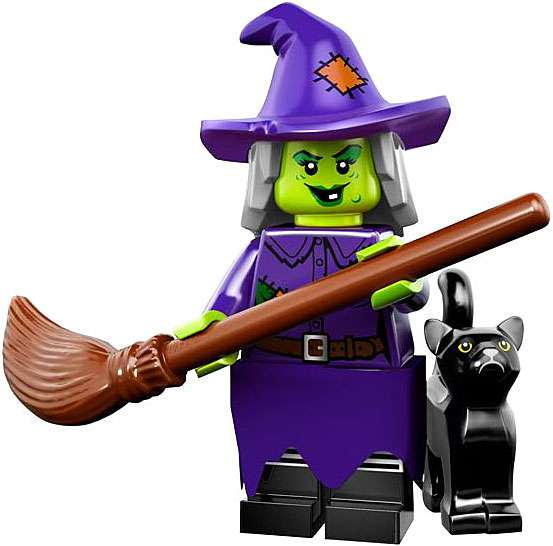 LEGO Series 14 Crazy Witch Minifigure - Lego Crazy Contraptions