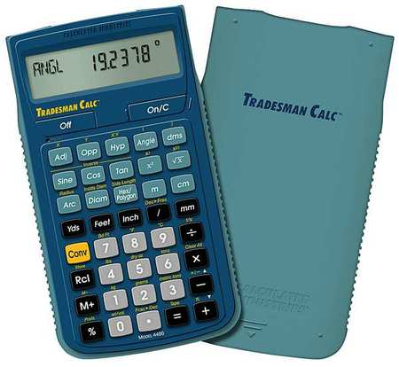 CALCULATED INDUSTRIES 4400 Tradesman Calculator, Portable, LCD