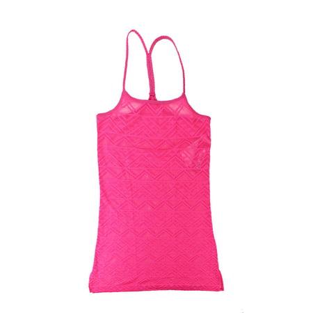 Hula Honey Pink Laser-Cut Racerback Dress Cover Up Dress - Hawaiian Hula Dress