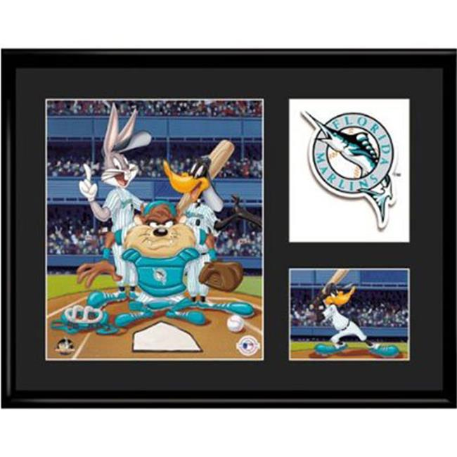Toon Art TNA-14931 Florida Marlins MLB Limited Edition Lithograph Featuring The Looney Tunes As Florida Marlins