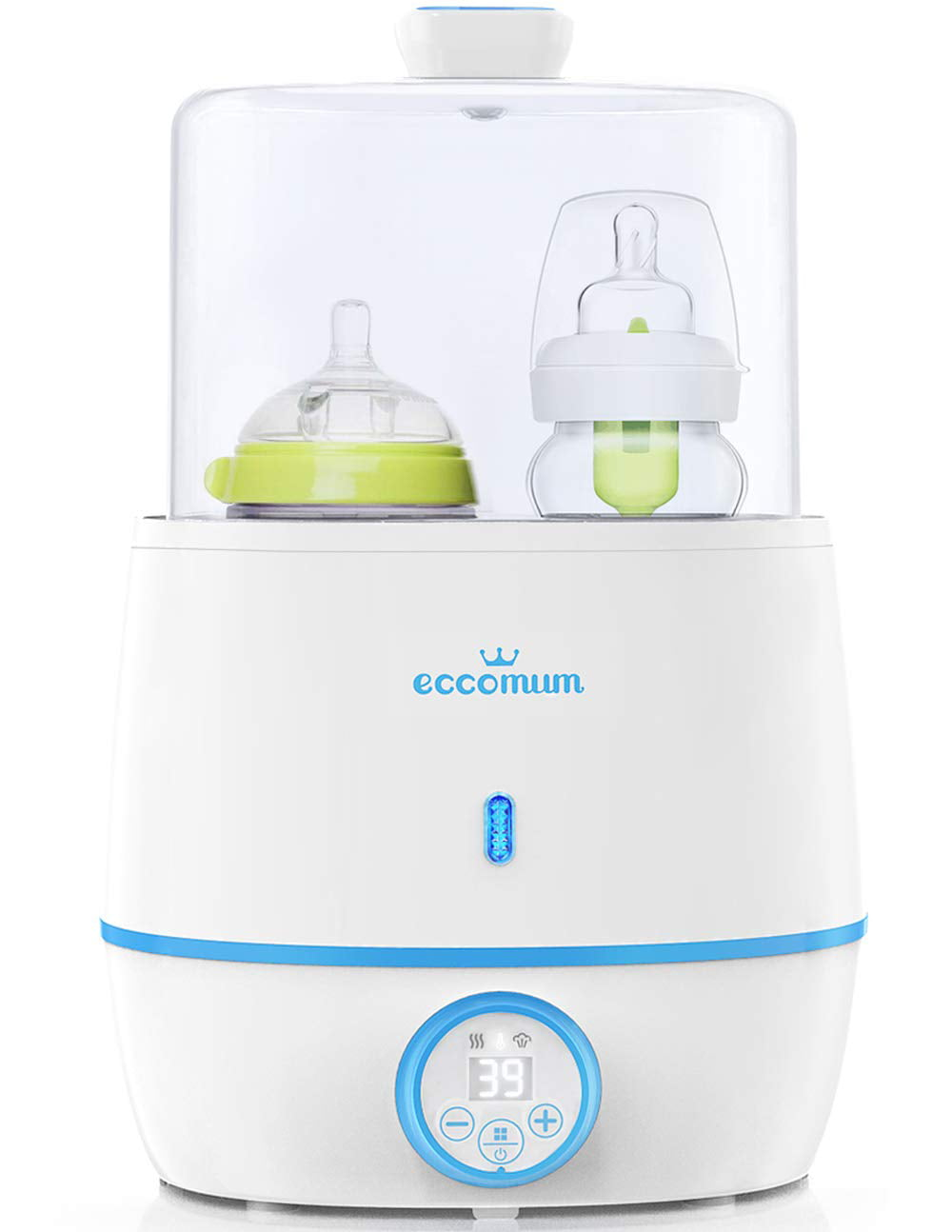 5-in-1 Bottle Steam Heater with Led Display Baby Bottle Warmer and Dryer Baby Milk Warmer for Baby Bottles Pacifiers Breast Pumps Auto Power-Off