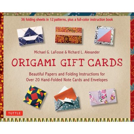Origami Gift Cards Kit : Beautiful Papers and Folding Instructions for Over 20 Hand-Folded Note Cards and Envelopes](Printable Halloween Origami Instructions)