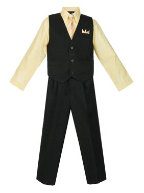 Avery Hill Boys' 4 Piece Pinstripe Vest Set (Toddler, Little Boys, Big Boys)