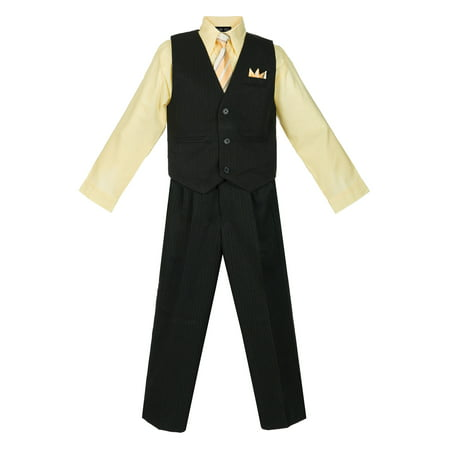 Avery Hill Boys 4 Piece Pinstripe Vest Set