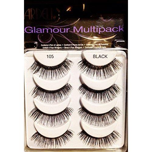 Ardell Glamour Multipack 4 Pair Lashes,105 Black