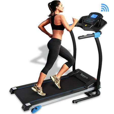 SereneLife SLFTRD25 - Smart Treadmill with Downloadable App, Built-in MP3 Player & Stereo Speakers