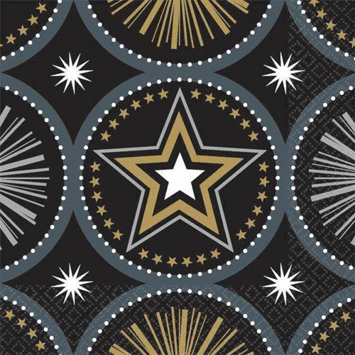 Hollywood 'Glitter Starz' Small Napkins (16ct)