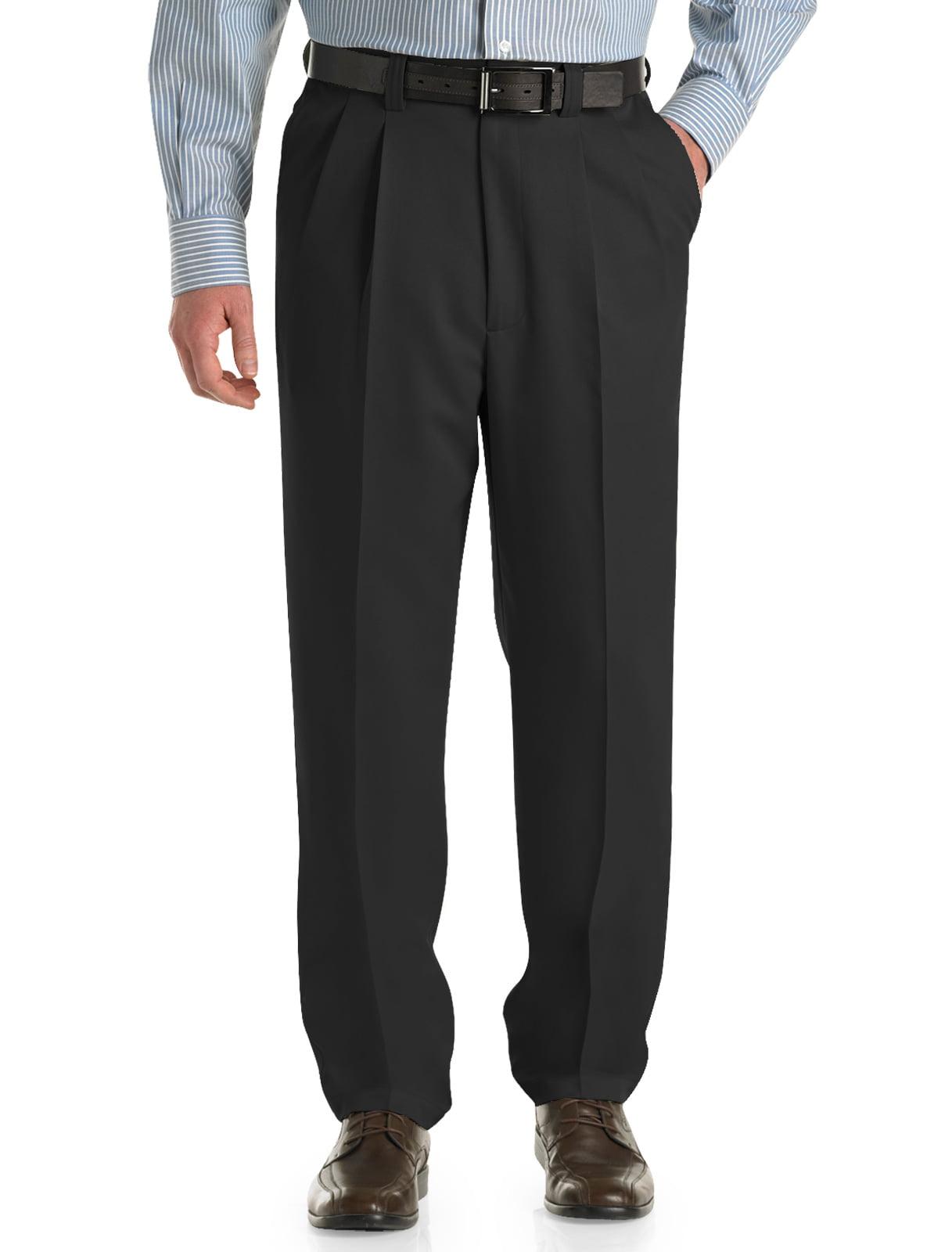 Men's Big & Tall Oak Hill Waist-Relaxer Pleated Microfiber Pants