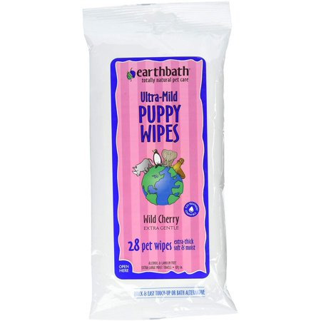 All Natural Grooming Wipes, Puppy - Pack of 1, The product is Manufactured in United States By Earthbath