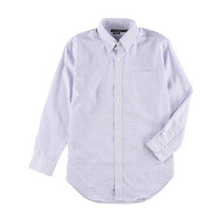 Ralph Lauren Mens Non Iron Button Up Dress Shirt ()