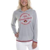 Women's Gray Nebraska Cornhuskers Mason Block Pullover Hoodie