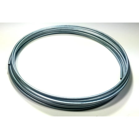 """Roll of 25 ft. Zinc Plated 3/16"""" Brake Line Tubing"""
