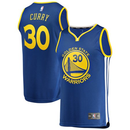 Stephen Curry Golden State Warriors Fanatics Branded Fast Break Replica Jersey Royal - Icon Edition