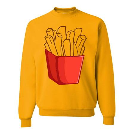 Allntrends Adult Sweatshirt French Fries Costume Cool Food Halloween Top - Cool Halloween Food Names