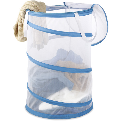 Whitmor 18-inch Collapsible Laundry Hamper with Mesh Sides