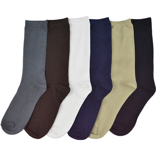 "MUK LUKS Men's 9"" Rayon from Bamboo 6 Pair Sock Pack"