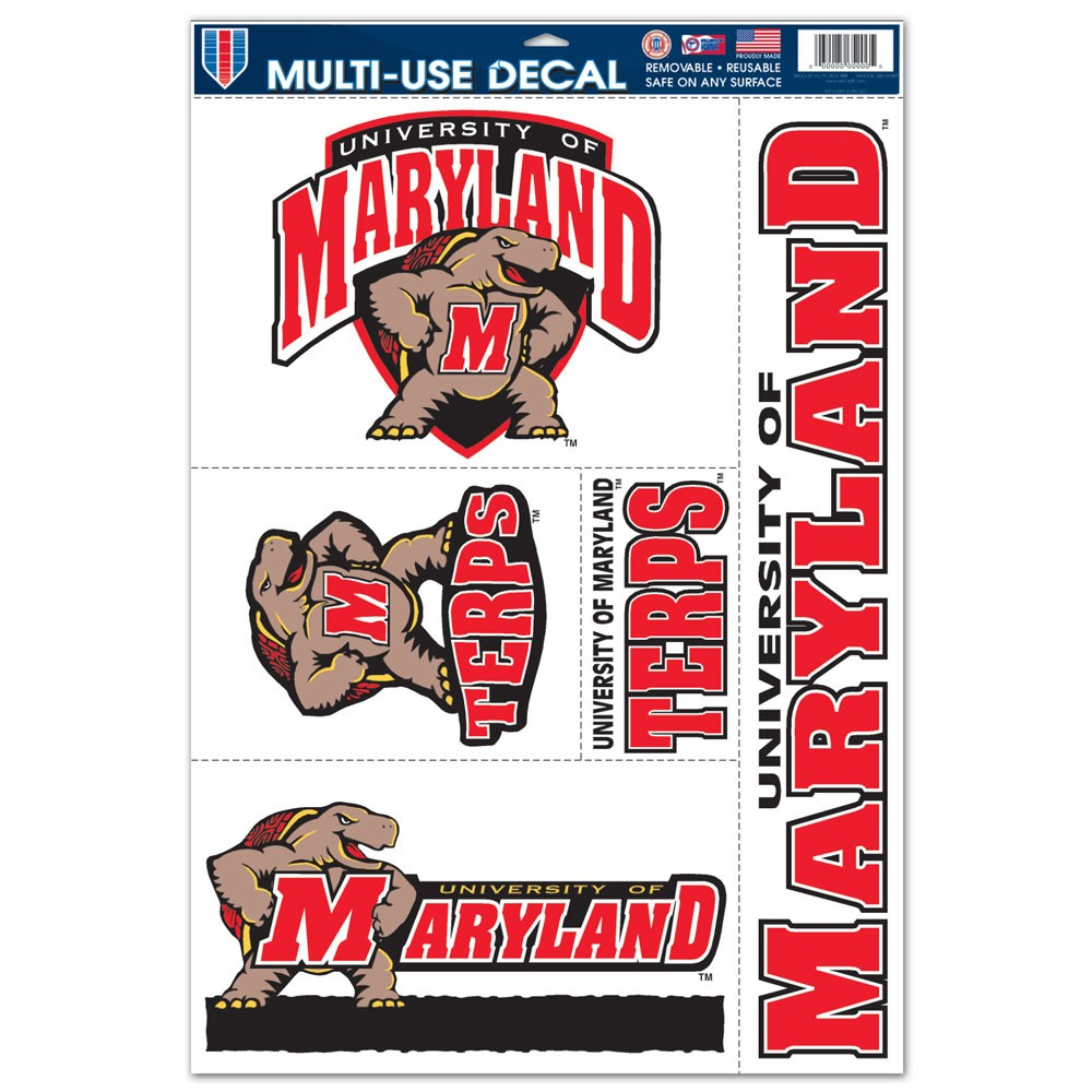 Maryland Terrapins Official NCAA 11 inch x 17 inch  Car Window Cling Decal by WinCraft