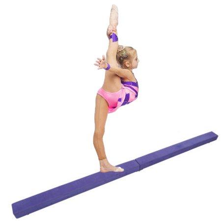 ubesgoo 7' sectional gymnastics floor folding balance beam