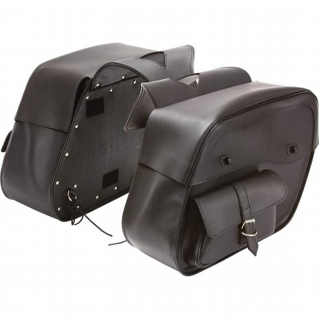 BNFUSA LUMSADP Diamond Plate Water-Resistant PVC 2 pieces Motorcycle Saddlebag Set