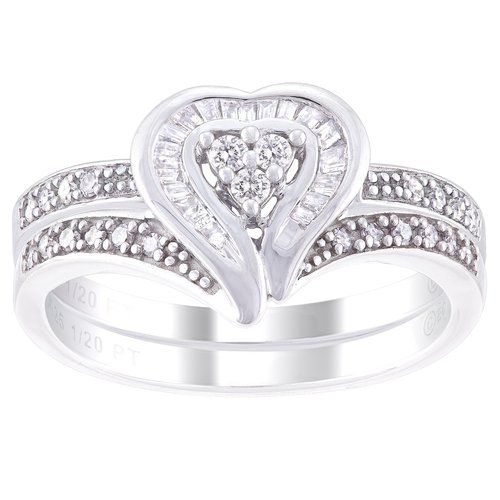 Always and Forever Platinaire 1/4 Carat. T.W. Diamond Bridal Ring Set