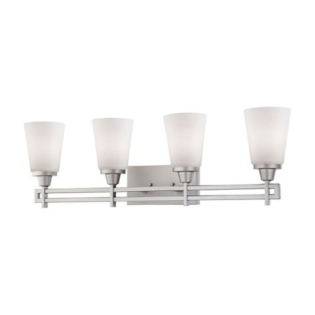 ELK Lighting Wright 4 Light Contemporary Bathroom Vanity Light Bracket Contemporary Bathroom Light