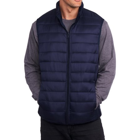 Alpine Swiss Mens Down Alternative Vest Jacket Lightweight Packable Puffer Vest](blanc noir puffer vest)