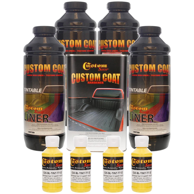 Bed Liner CUSTOM COAT SAFETY YELLOW 4-L Urethane Spray-On Truck Kit