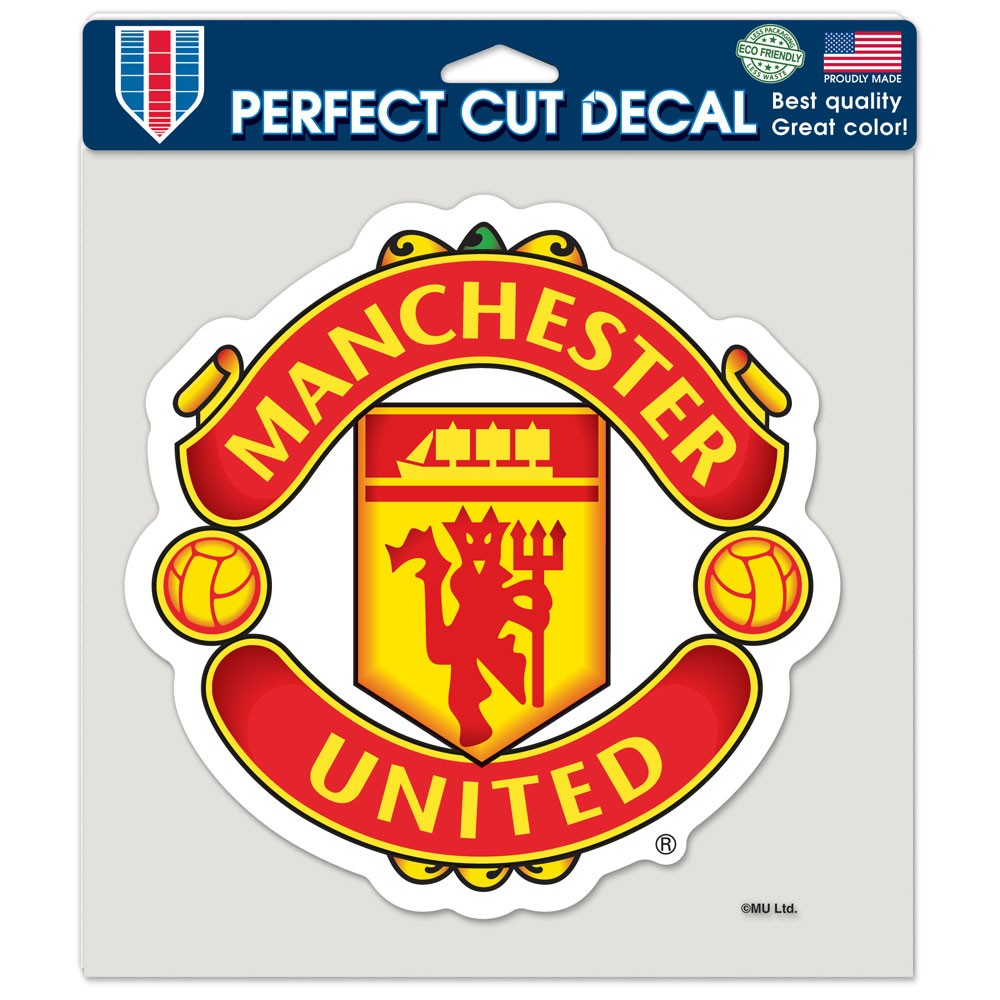 Manchester United Official PREMIER LEAGUE 8 inch x 8 inch  Die Cut Car Decal by Wincraft