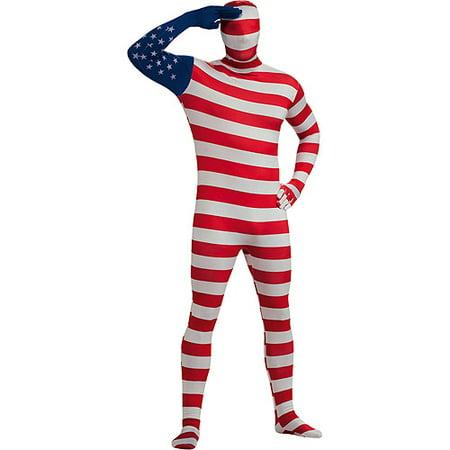 USA Flag Skin Suit Adult Halloween Costume