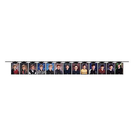 8 Feet x 5.75 Inch Class Photo Display Ribbon Banner- 14 Pennants | Graduation Party Mortarboard Decorations