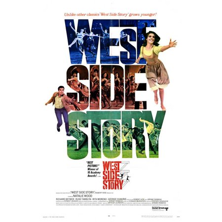 West Side Story (1968) 11x17 Movie Poster Go West Movie Poster